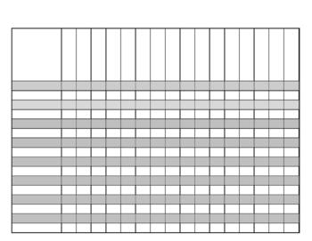 Class List Template - Horizontal