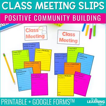 Class Meeting Slips