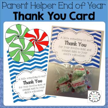 Class Parent Helper Thank You