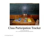Class Participation Tracker