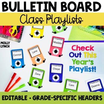 Class Playlists - Editable Back to School Display