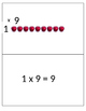 Class Practice Sized Multiplication Array Flashcards for t