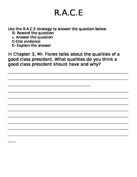 Class President Chapter 3 Open Response