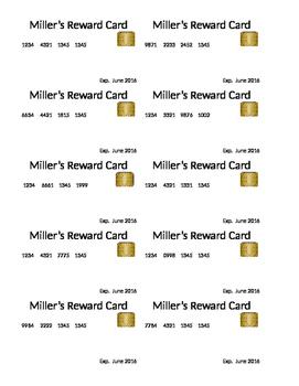 Class Reward credit Cards