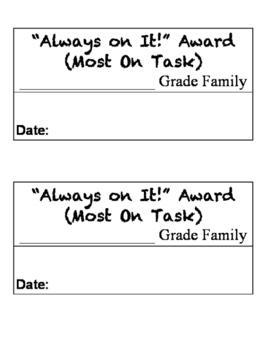 Class Rewards (Basic Format)