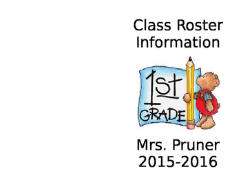 Class Roster Booklet
