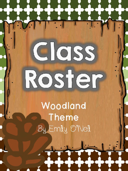 Class Roster (Woodland Theme)