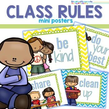 Class Rules Mini Posters