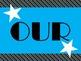Class Rules Bulletin Board Set (black/blue stripes)