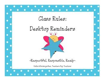 Class Rules:  Desktop Reminder Strips