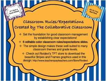 Class Rules / Expectations Bold Bright Colorful Style Post