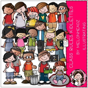 Melonheadz: Class Rules clip art - Kidlettes - COMBO PACK