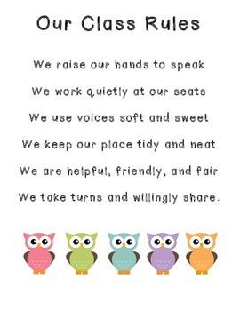 Class Rules-Owls