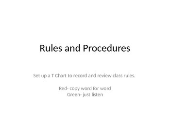 Class Rules PPT