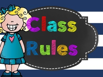 Class Rules Poster Freebie