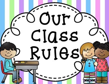 Class Rules Posters {5 backgrounds to choose from!}