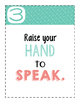 Class Rules Posters in Coral and Teal