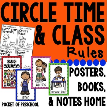Class Rules and Circle Time Rules Posters, Books, and Posi