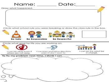 Class Rules and Goals for Life with Think Sheet (supports
