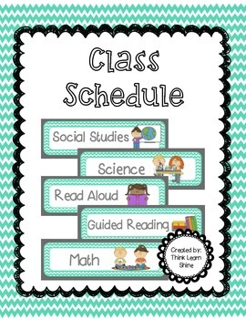 Class Schedule in Teal Chevron