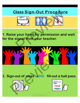 'Magic' Class Sign-out Procedure Poster