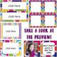 Editable Class Labels- Bright Colors