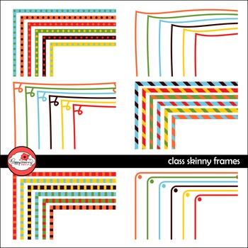 Class Skinny Frames Mega Pack Digital Borders Clipart by P