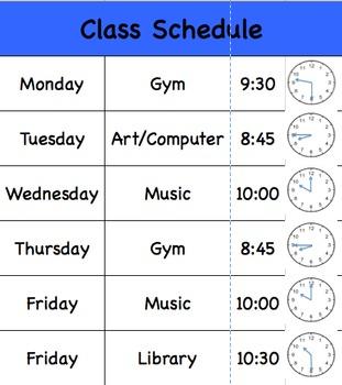 Class Specials Calendar