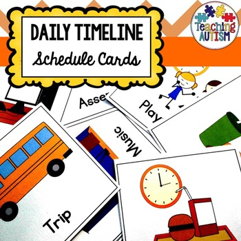 Class Timeline, Schedule, Visual, Symbol Cards
