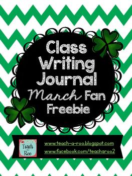 Class Writing Journal March Fan Freebie
