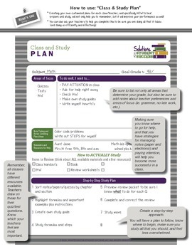 Class and Study Plan with Sample