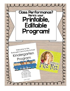 Class performance?  Here's your printable program!