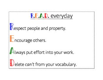 Class rules- READ acronym