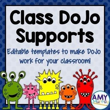 Class Dojo Supports for Behavior Management (editable!)