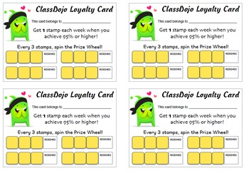 ClassDojo Loyalty/Punch Card for Rewards (Pages)