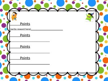Classdojo point system (CAN be edited)