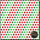 Classic Christmas Dots on White Digital Papers {Commercial