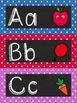 Classic Polka Dot Alpha Headers for Word Wall