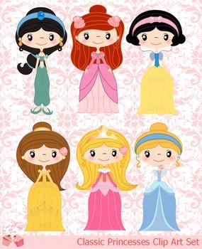 Classic Princesses Clip Art Set