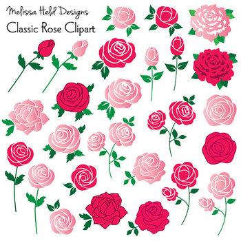 Clipart: Classic Rose Clip Art