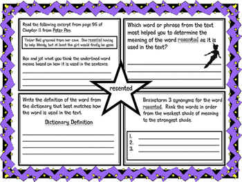 Classic Starts Peter Pan Chapter 11 Vocabulary Organizer N