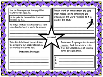 Classic Starts Peter Pan Chapter 15 Vocabulary Organizer N