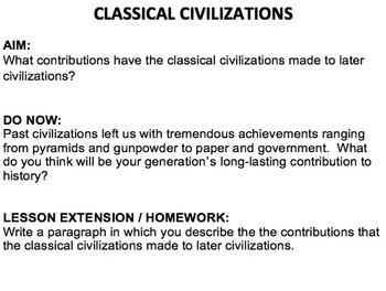 Classical Civilizations (Greece, Rome, Han Dynasty, Maurya