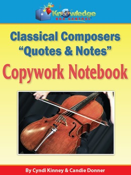 """Classical Composers """"Quotes & Notes""""  Copywork Notebook"""