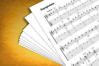 Classical Guitar Sheet Music: Espagnoleta (Gaspar Sanz)