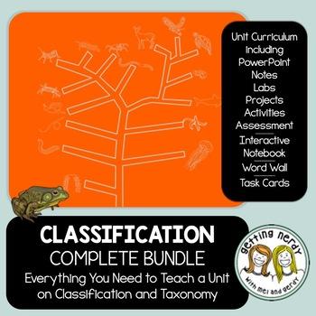 Classification Curriculum - PowerPoint, Handouts, INB, Tas