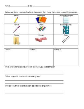 Classification Pre-Assessment