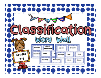 Classification Word Wall