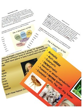 Classification of Life Cloze Notes and PowerPoint