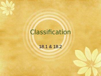 Classification of Life PowerPoint